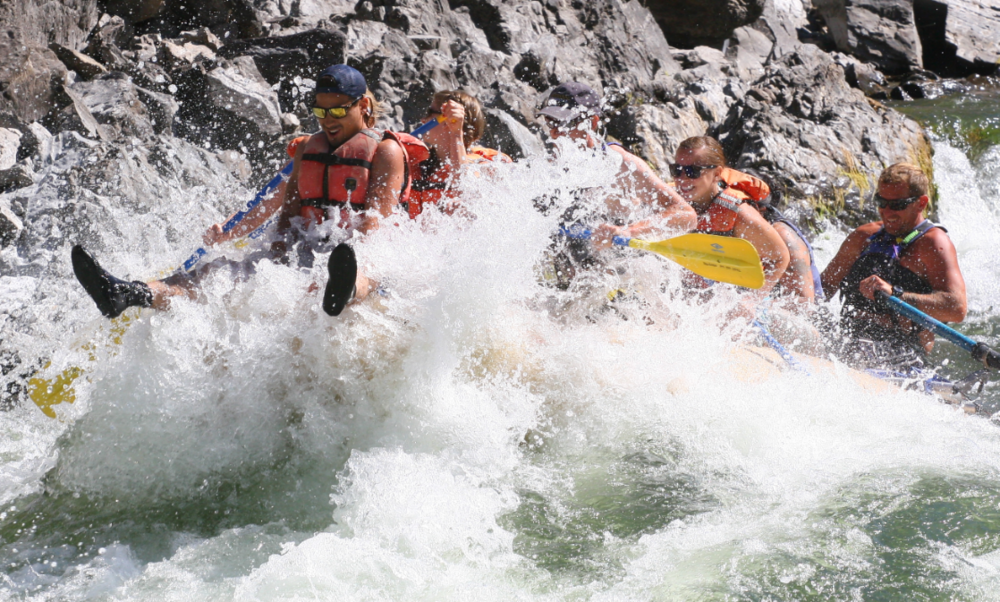 """Riding the bull!"" is a Pangaea signature experience on the Clark Fork River."