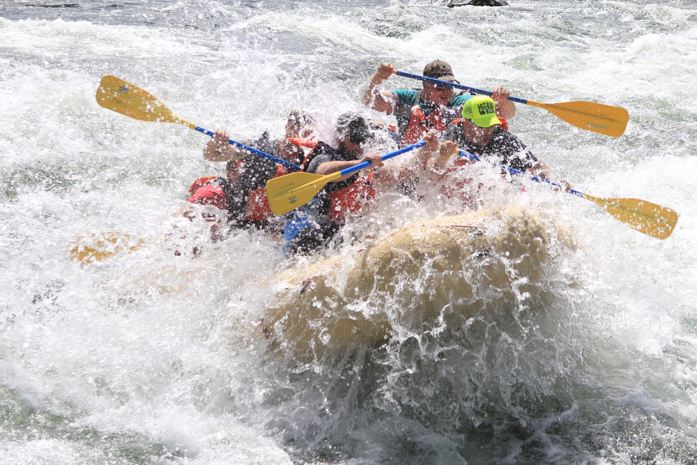 A wet-and-wild whitewater river rafting bachelor party on the Spokane River.