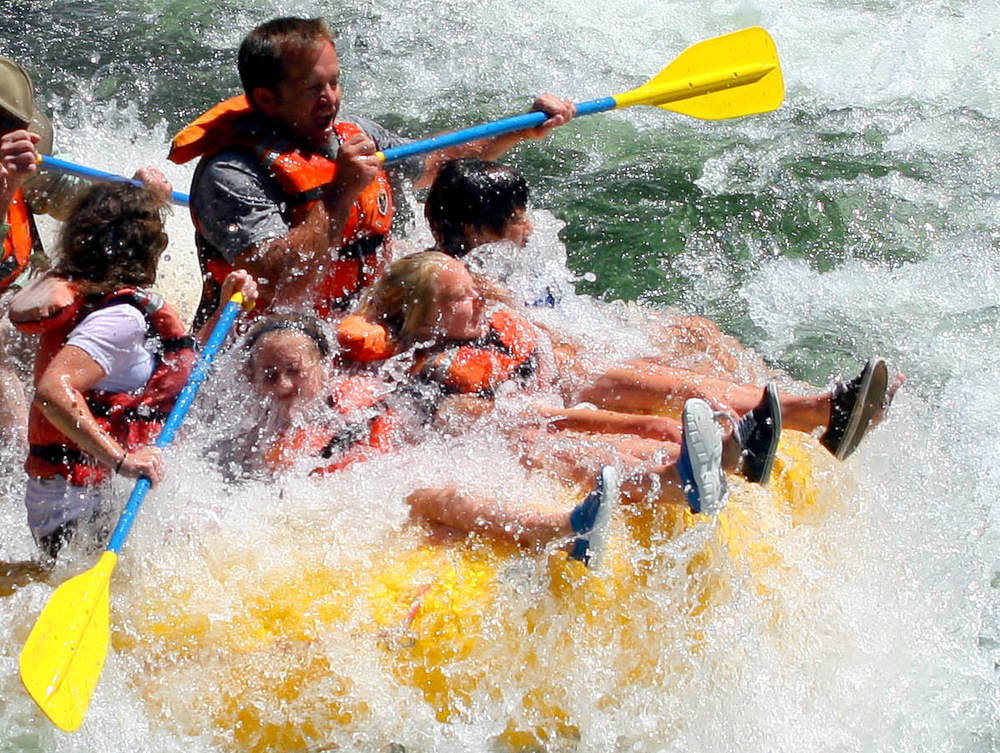 The Devil's Toenail makes for a  face full of fun on the Spokane River whitewater trip! Join us at Pangaea River Rafting and leave boring behind!