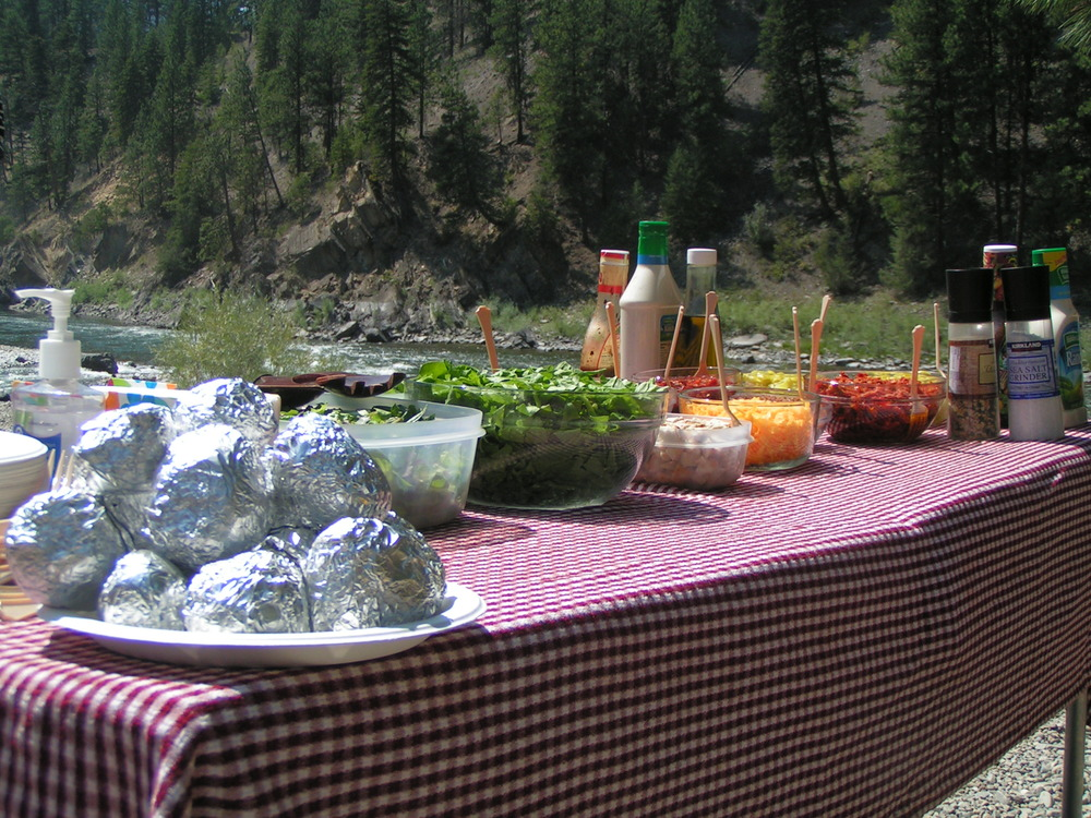 The most popular lunch served on the river- even guides from the other companies drool over our lunch!