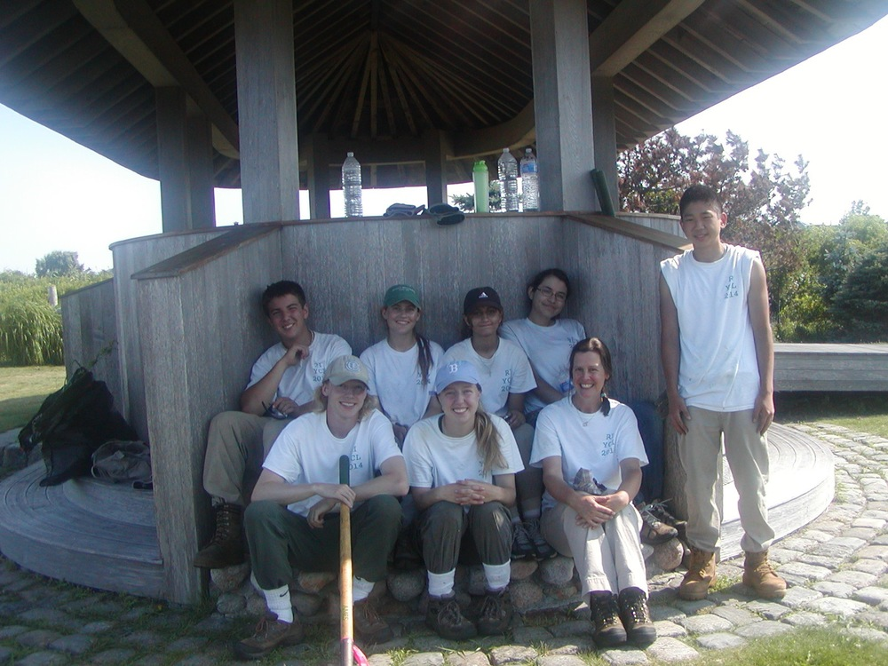 Group photo of the YCL in front of the OVF pavillion