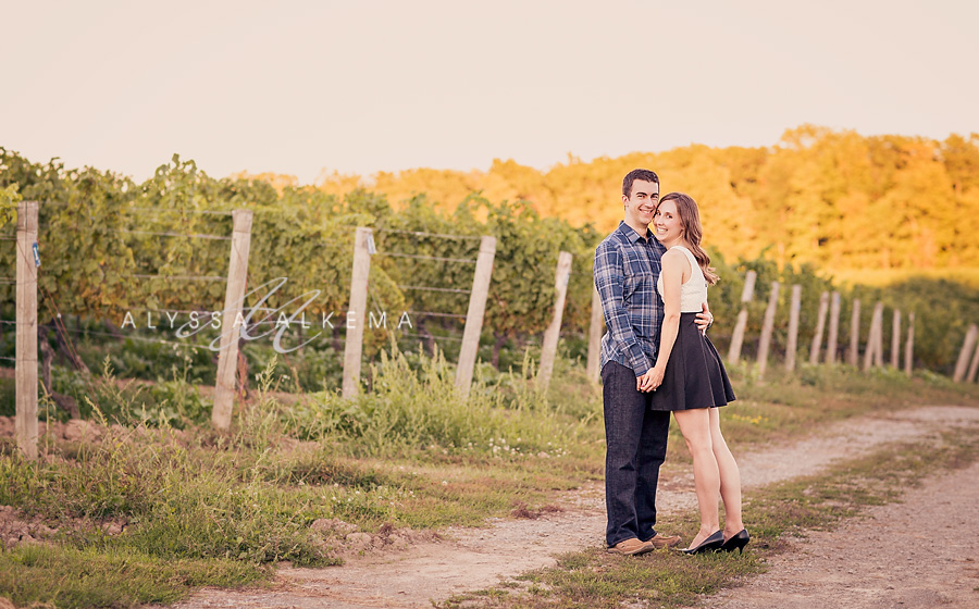 Steph Wes A Beautiful Scenic Waterfall Winery Engagement Session Alyssa Alkema