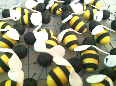 Had fun making these little sugar bees.