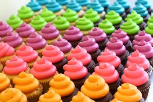 Neon cupcakes — Eat Cake Be Merry - Custom Cakes NY/NJ