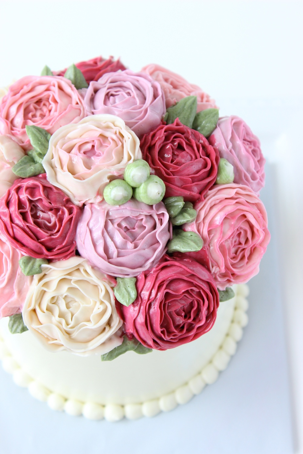 Pink Buttercream Bouquet Cake Eat Cake Be Merry Custom