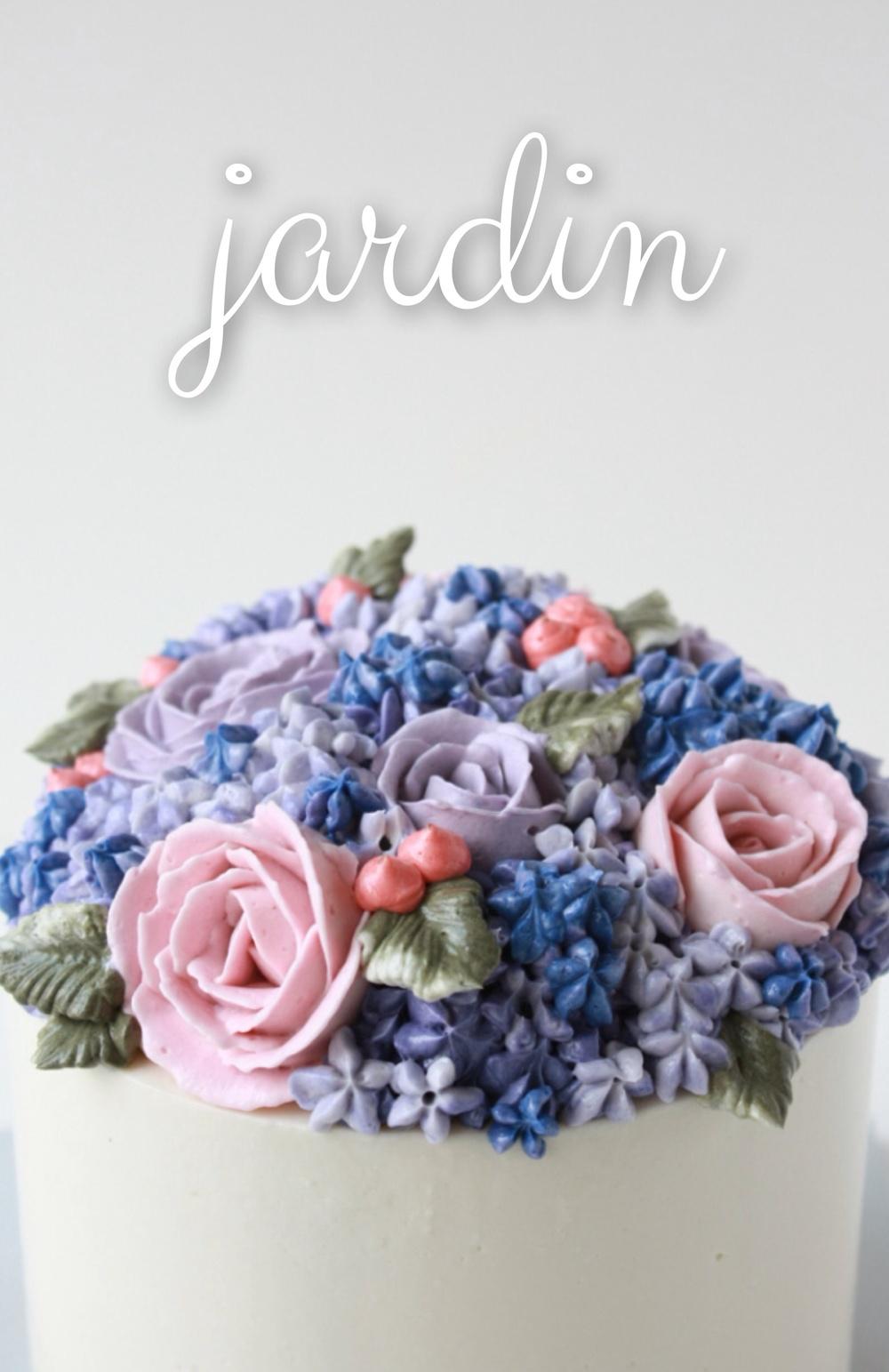 Cake Making Classes In Omr : Hydrangea and Roses Buttercream Cake   Eat Cake Be Merry ...
