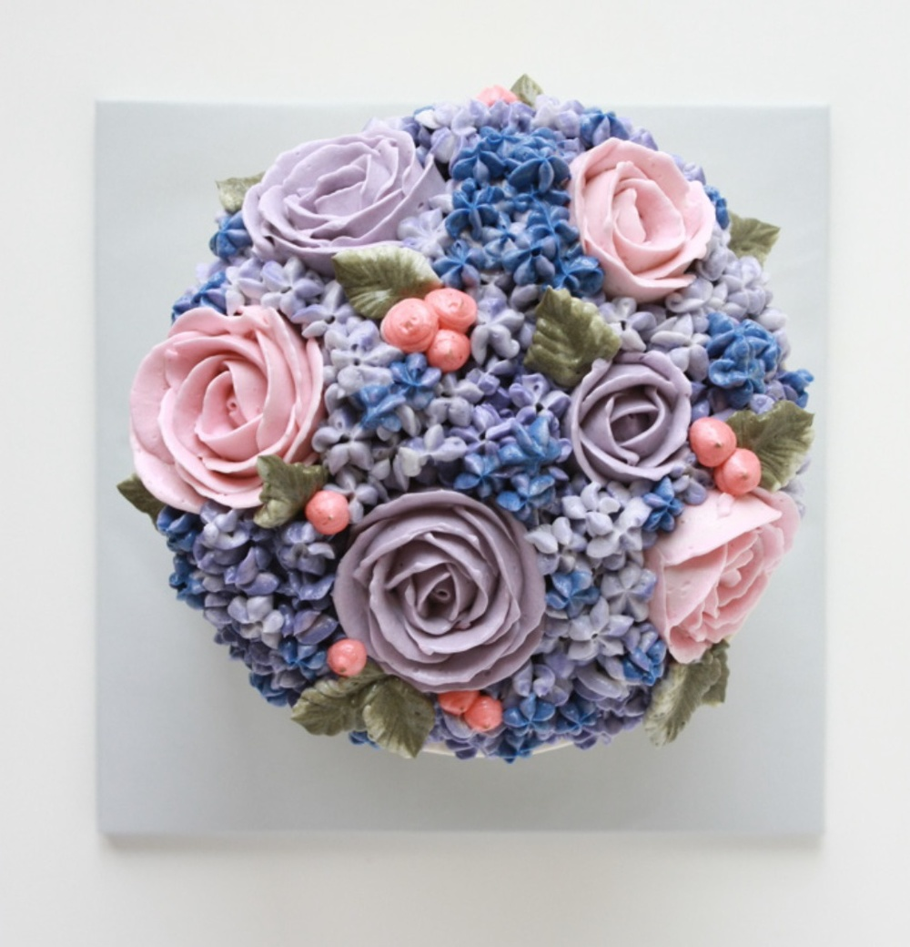 Hydrangea and Roses Buttercream Cake   Eat Cake Be Merry ...