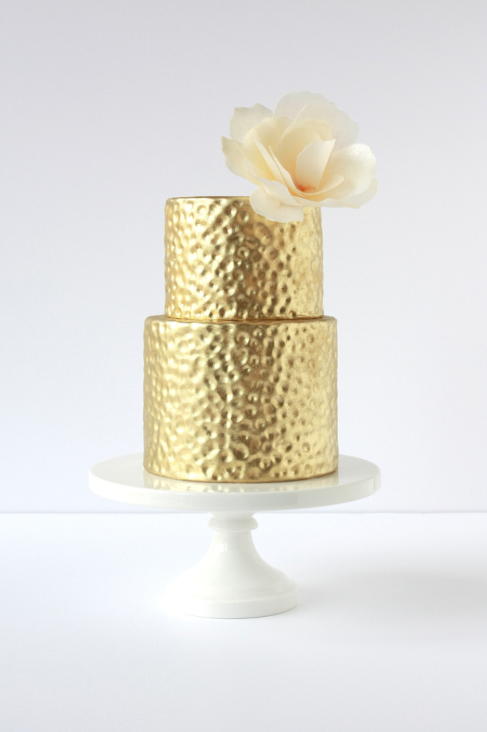 Hammered Metal + Wafer Paper   Eat Cake Be Merry - Custom ...