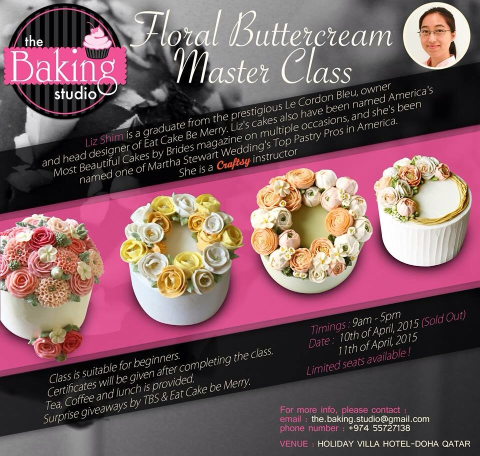 Cake Decoration Qatar : Buttercream and Hammered Metal Cake Classes in Doha, Qatar ...