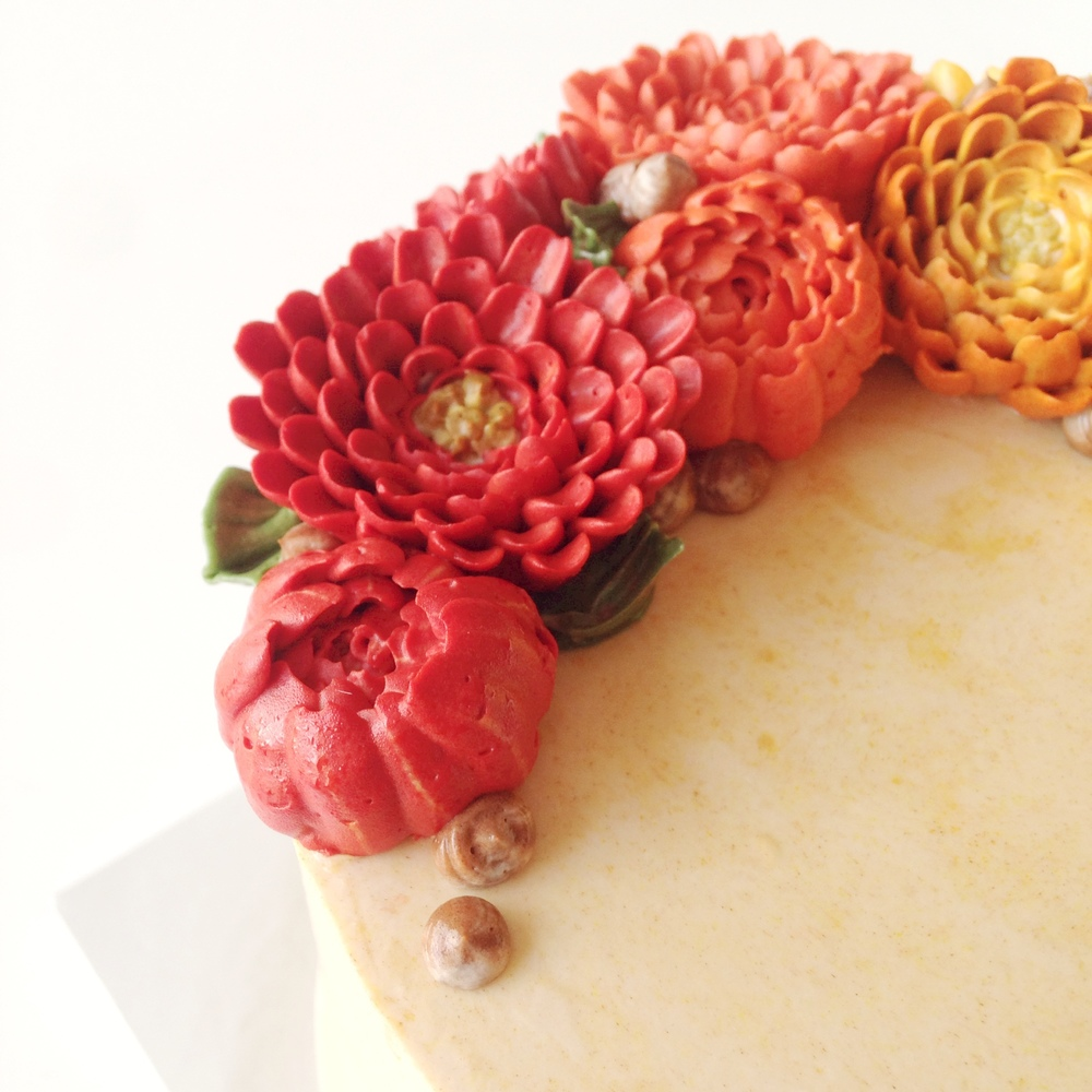 Eat Cake Be Merry Chrysanthemum Closeup End