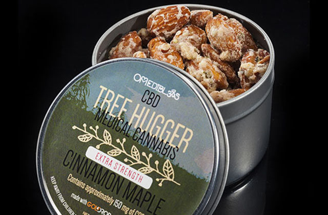 BEST CBD EDIBLE  1st Place – CBD Cinnamon Maple Tree Hugger by Om Edibles All Female Collective with Gold Drop