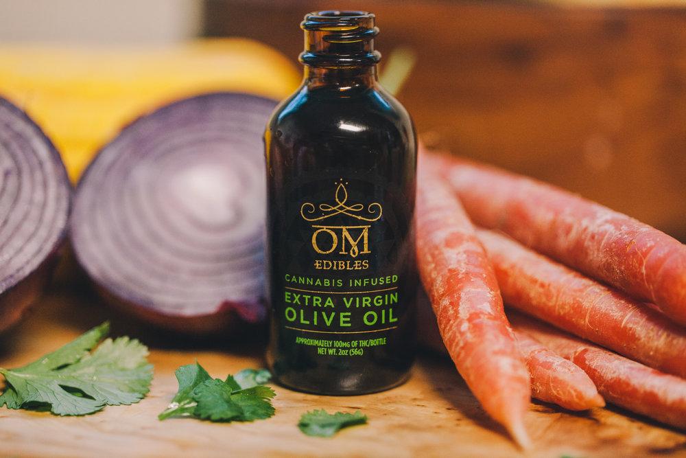 Omedibles Medicated Oliva Oil photo Allie Beckett
