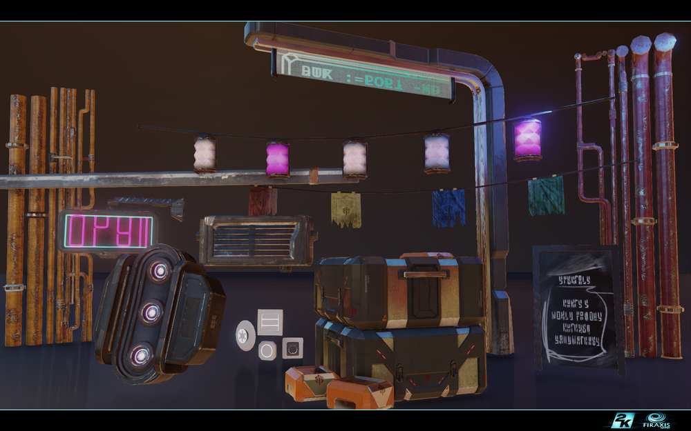 A medley of the props I worked on during my time on XCOM 2.