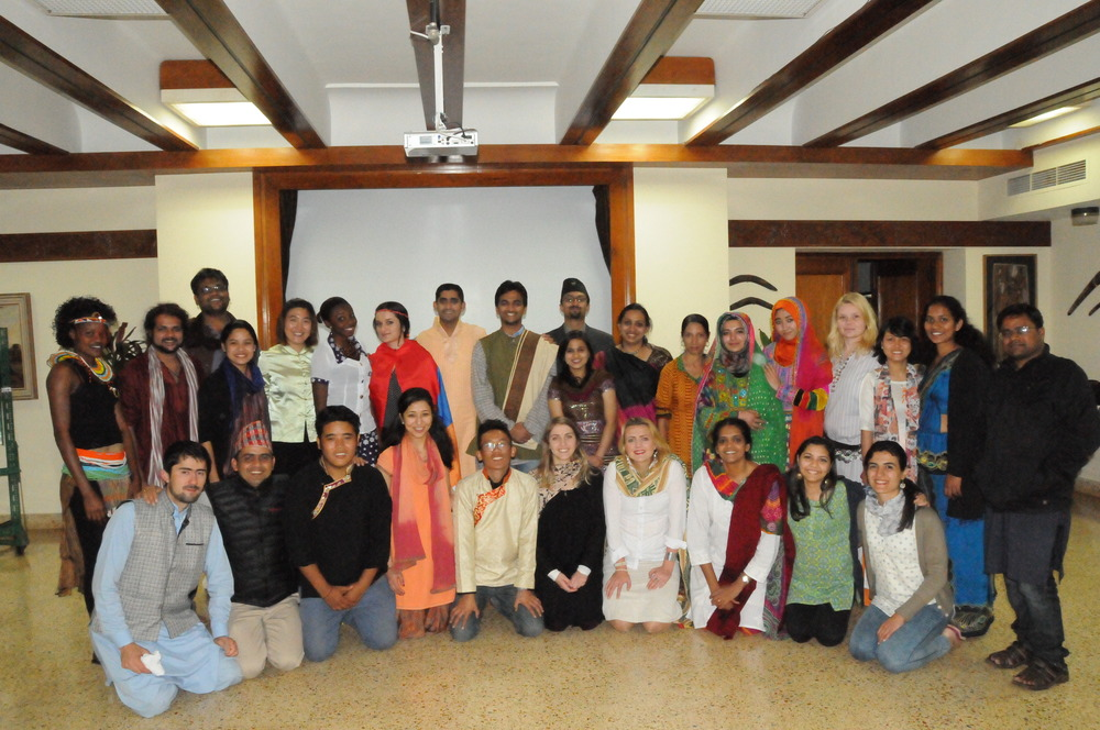 Sharmila with course participants in the Caux Scholars Program