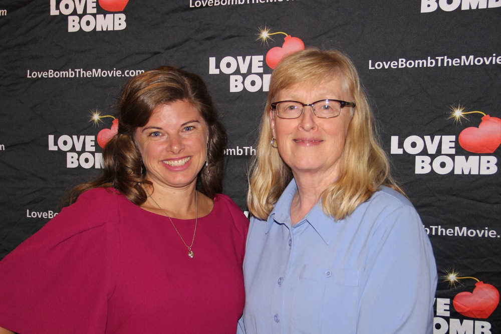 Evy and I at the Premier of Love Bomb in Burlington, Vermont in October of 2014