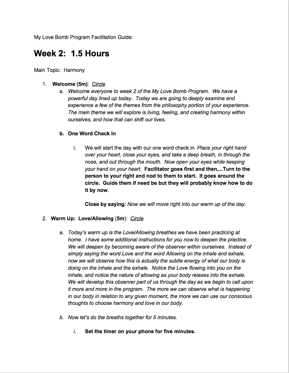Week 2 Facilitation Guide
