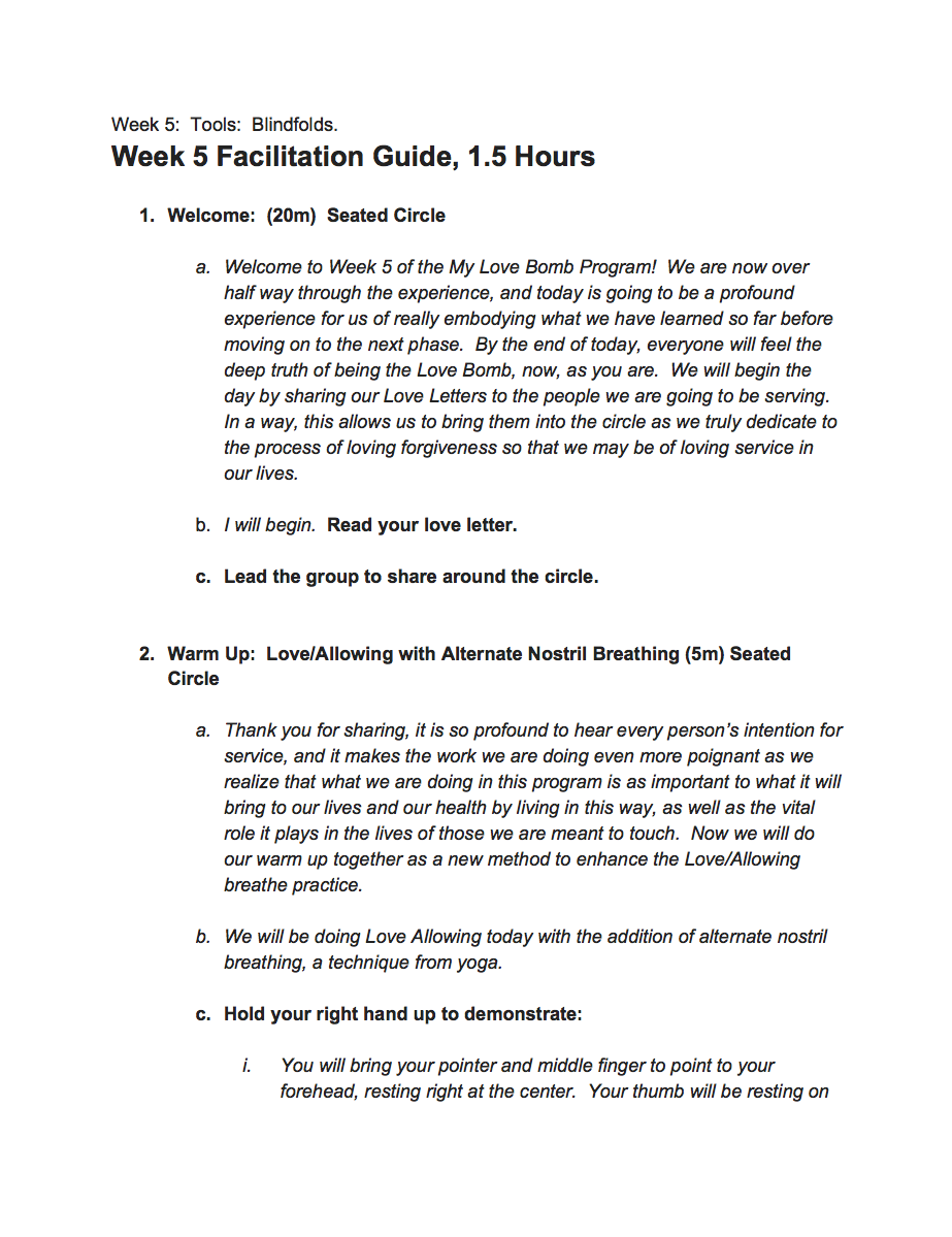 Week 5 Facilitation Guide