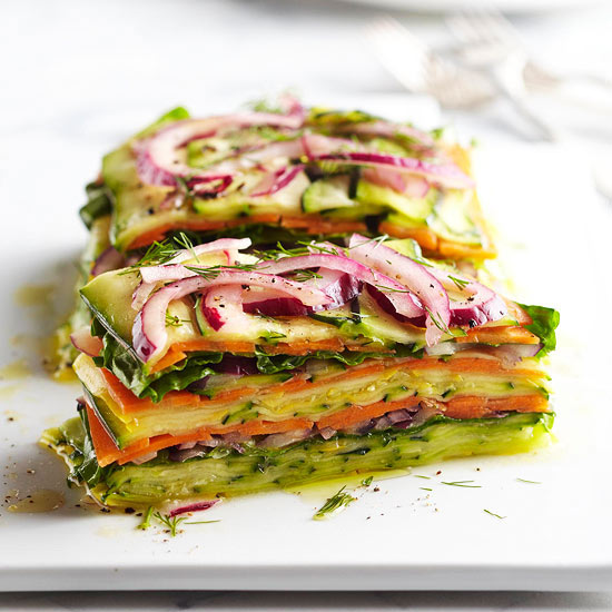 Recipe Stacked Summer Vegetable Salad From Better Homes