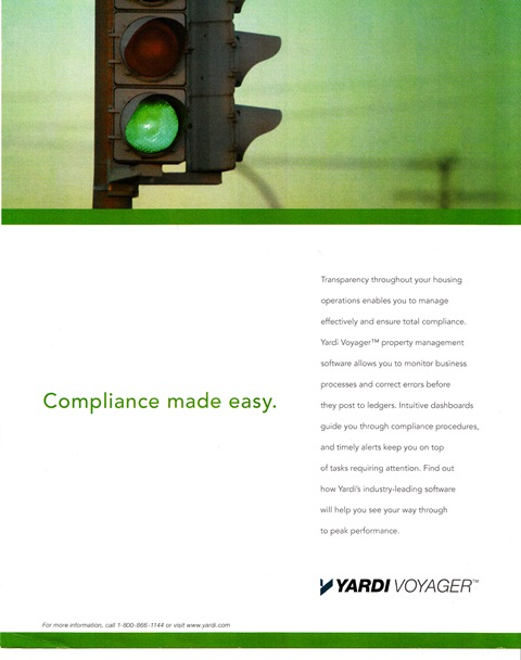 Print ad campaign for software company