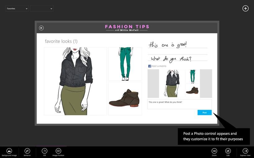 Sample fashion application via Project Siena
