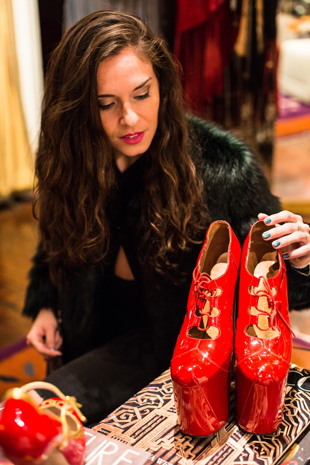 Another shot from my tour of NY Vintage lusting over these Vivienne Westwood beauties. What an incredible place!