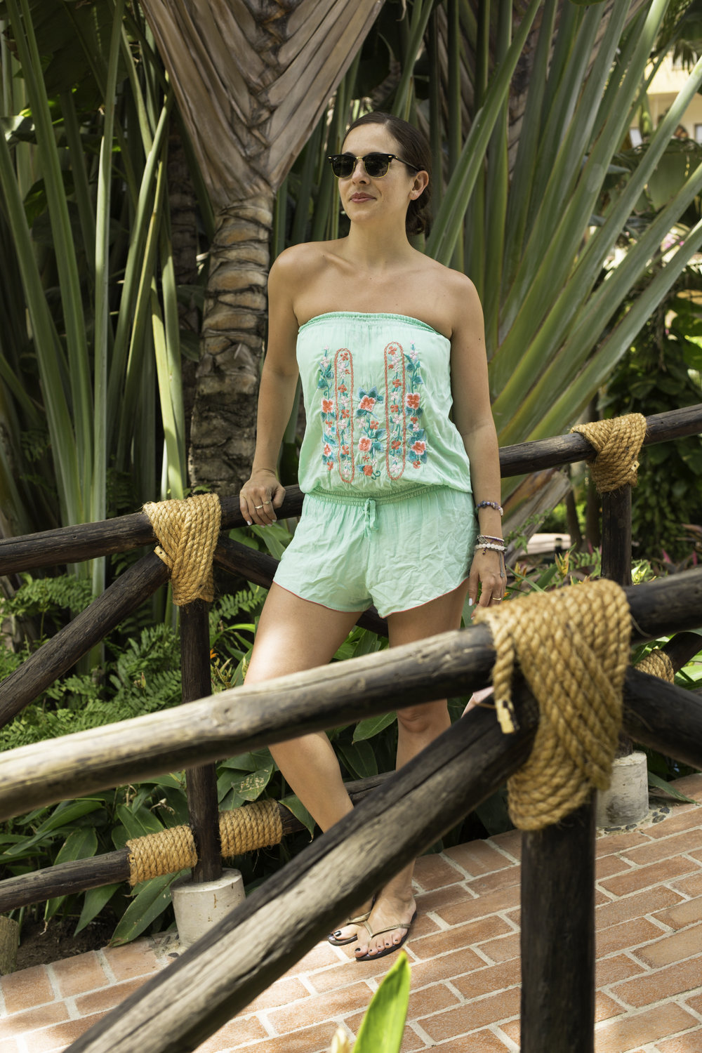 d401fe3891 Wearing this embroidered romper, from the cutest little beach-chic boutique  in Honolulu called