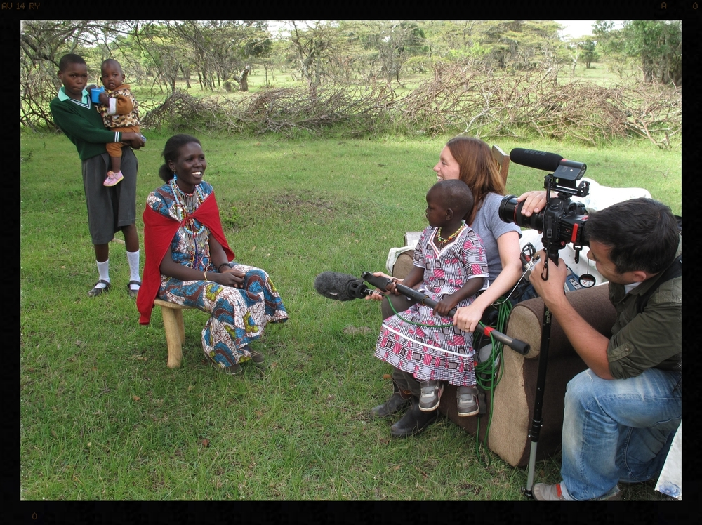 Filming in Kenya