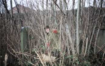 The overgrowth of trees and Japanese knotweed was so dense that it was almost impossible to access any graves, as Tonie rather comically found out