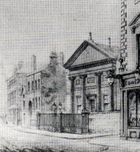 The exterior of Seel Street synagogue, the home of the Liverpool Old Hebrew Congregation from 1808-74