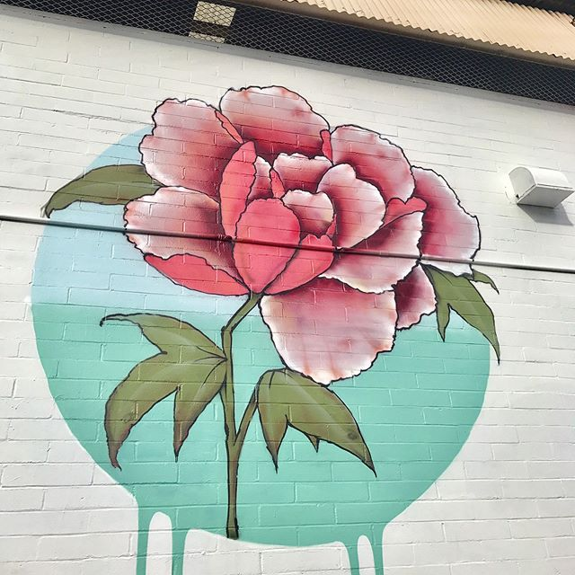 Building sized flowers for all mothers today #happymothersday2017 Swipe ⬅️ for more #powwowhawaii #urbanartists #wallartist #buildingart
