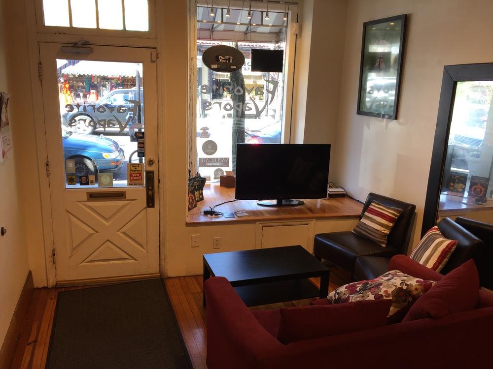 Customer lounge area