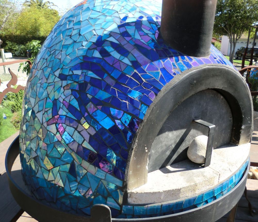 Under The Sea Pizza Oven All Cracked Up Mosaics