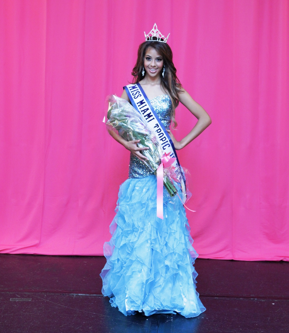 DESIREE FERREIRA    MISS MIAMI TROPIC JR. TEEN 2013