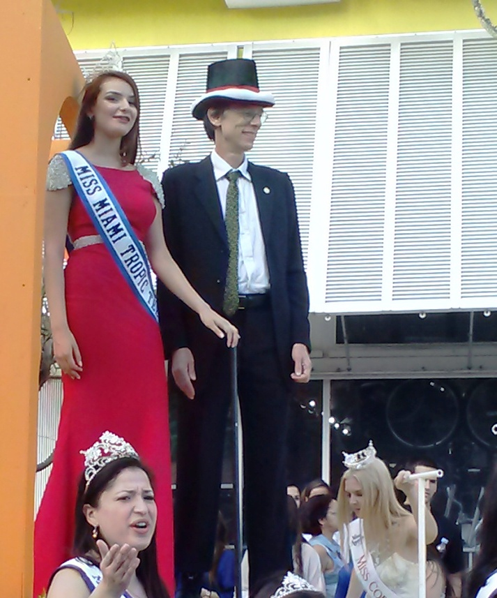So. MIami Mayor Pjilip K. Stoddard and Melanie Dorta Miss Miami Tropic Teen 2013