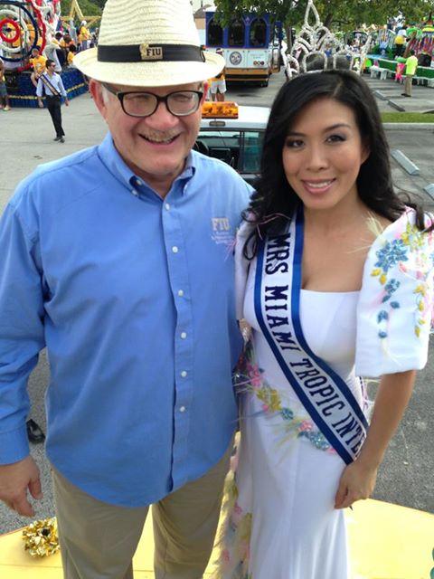 Dr. Mark B. Rosemberg FIU President and Kirsten Regalado MRS Miami Tropic International.