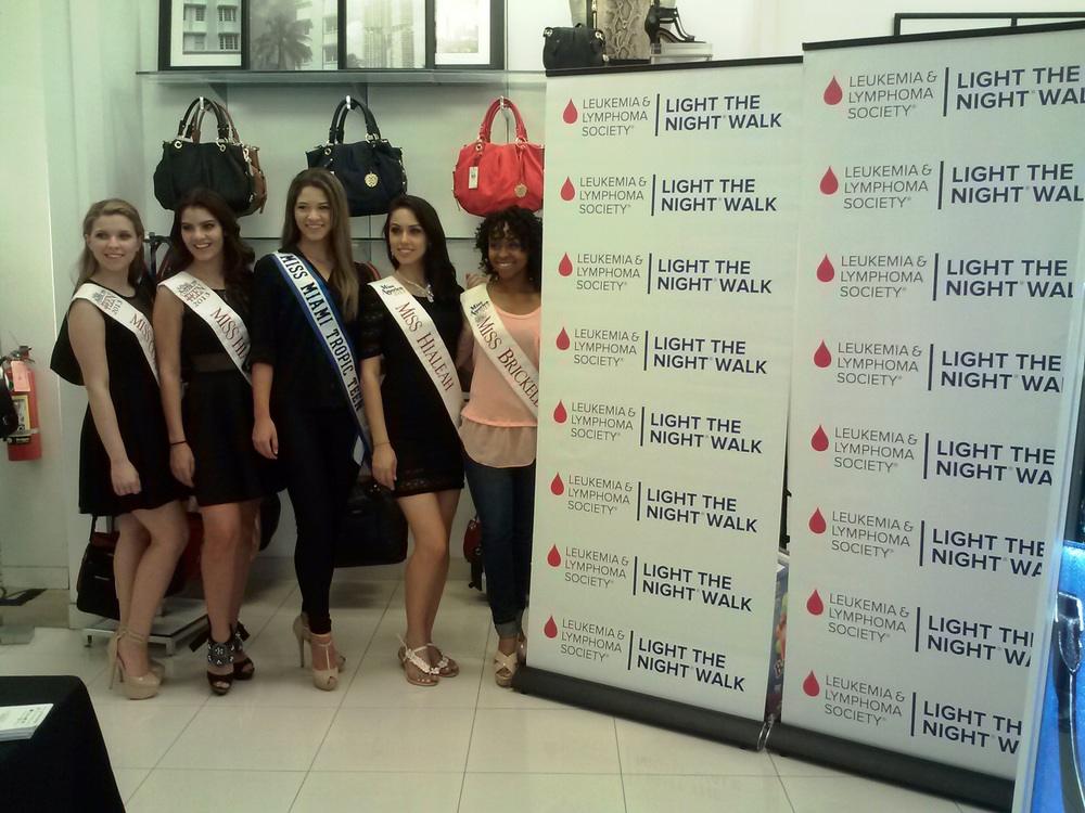 Fashion Show in support of the Leukemia and Lymphoma Society at Macy's South Beach with the Queens of MMT