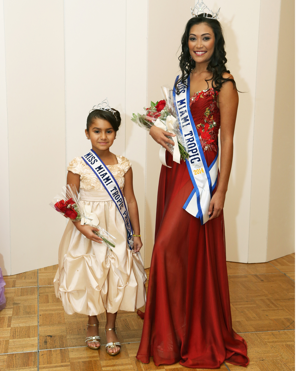 Briseis Rodriguez  miss miami tropic princess 2014          with the  Miss miami tropic queen