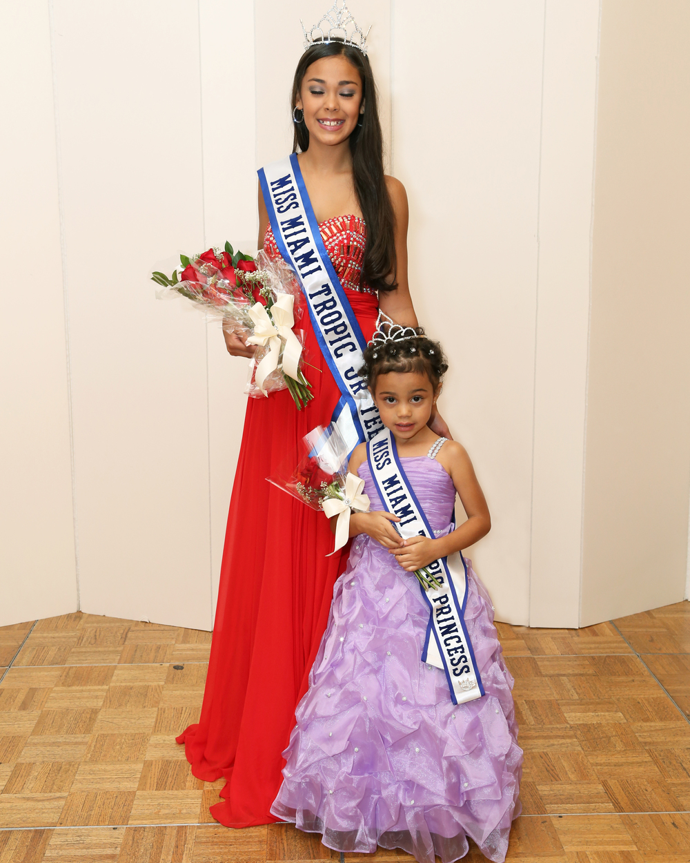 Leilani kalil miss miami tropic princess 2014     with  Miss miami tropic Jr. Teen queen
