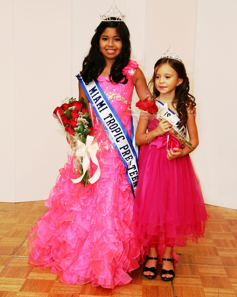 Samantha Hernandez miss  miami tropic princess 2014   with miss miami tropic Pre-teen queen