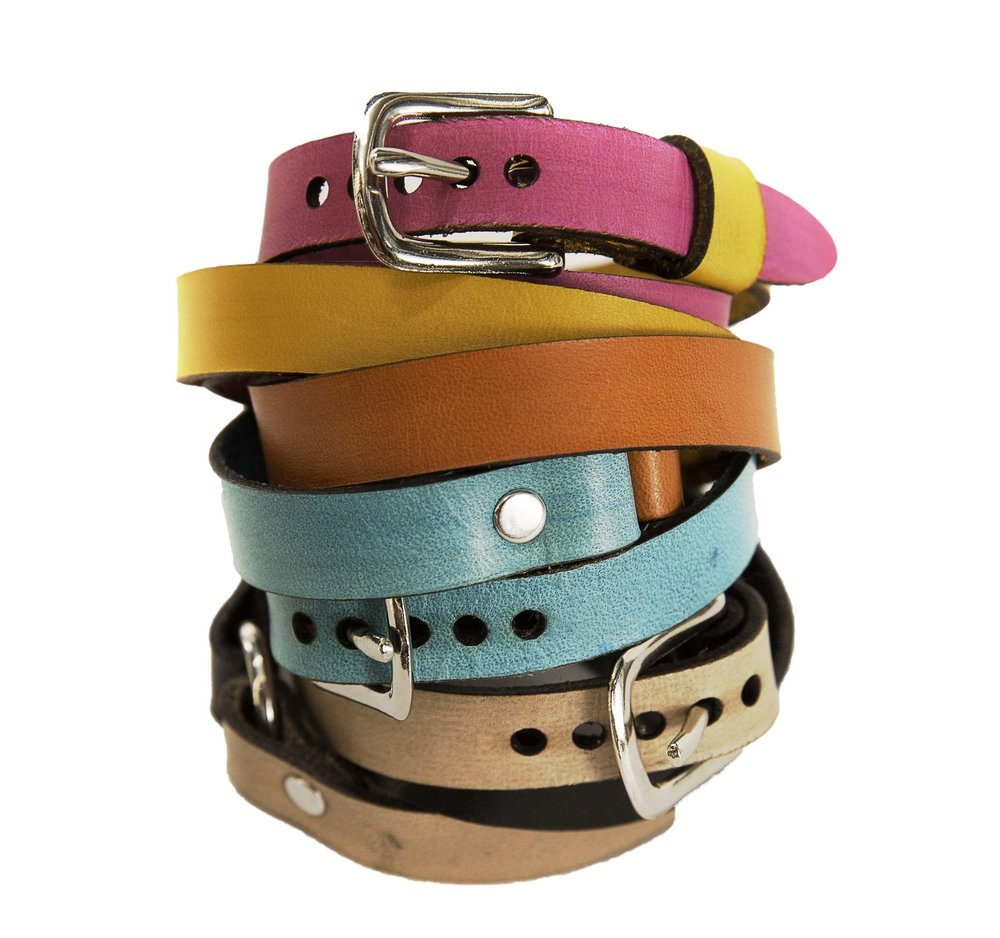 Leather two-tone bracelets