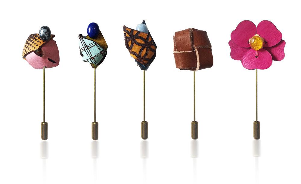 Sample lapel pins