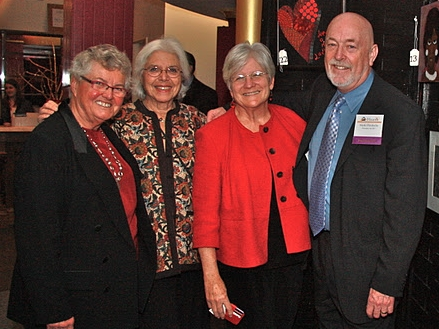 Three of Hearth's Founders with current CEO Mark Hinderlie (right to left: Anna Bissonnette, Ellen Feingold, and Sandra Albright)