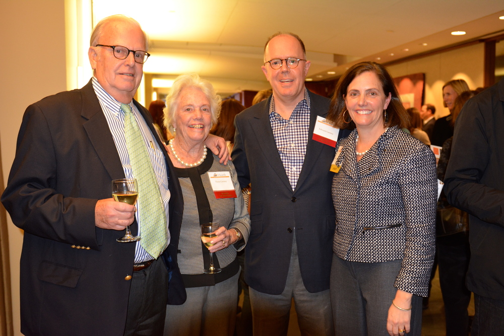 Ron Garmey of Nixon Peabody, with Hearth Board of VIsitor members Diana Garmey  and Edward Garmey, and Hearth's Director of Institutional Advancement Annie Garmey.