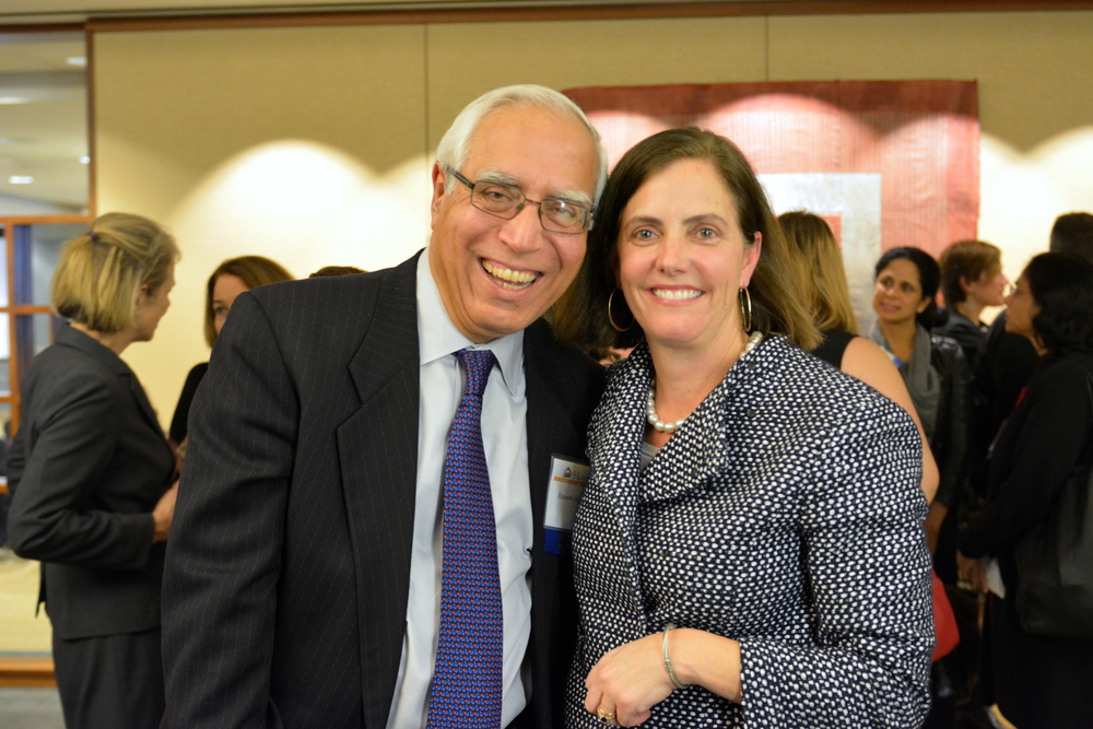 Annie Garmey with new Hearth Board Member Ramesh Advani