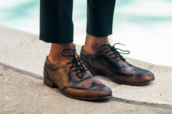 Above The Ankle Break        Sharp Crisp Clean pointers:    Fashion-forward. Sockless shoes.  Best with Loafers and wingtips. Slim fit pants. In style but not for everyone.