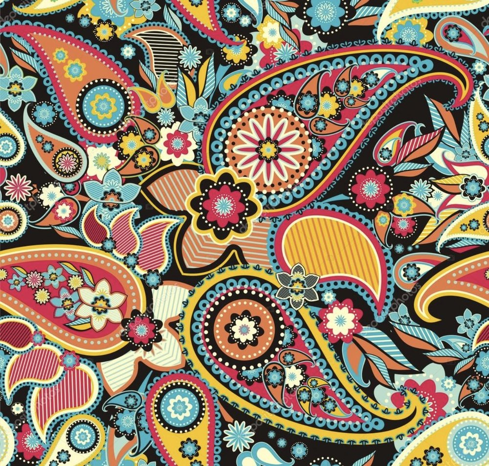 Paisley Patterned