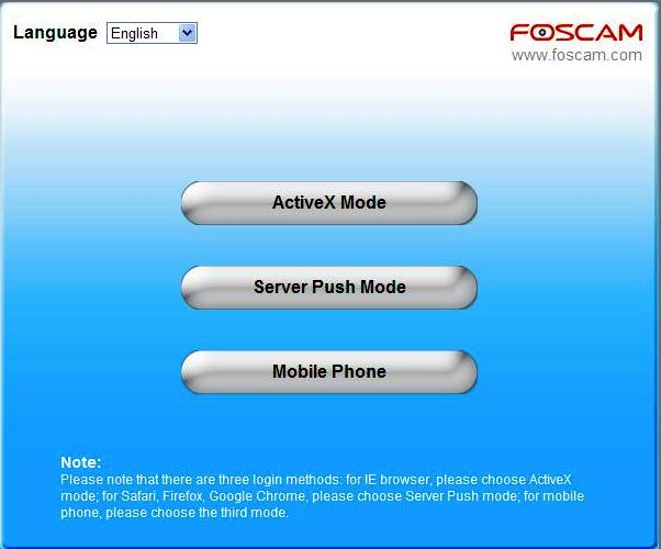 Foscam log in