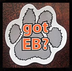 got EB? paw print magnet