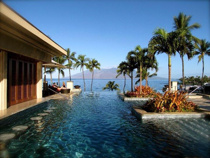 Serenity pool four seasons resort maui scott for Lanai structure