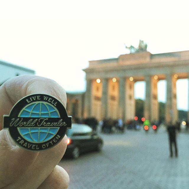 One of my World Traveler Enamel Pins made its way to Berlin! #berlin #germany #brandenburggate #europe #design #enamelpin #pin #pingame #lapel #lapelpin #globe #globetrotter #world #worldtraveler #travel #explore #wanderlust #art #architecture #city #photo #travelgram #lifewelltravelled #illustration #german #duetchland #landmark